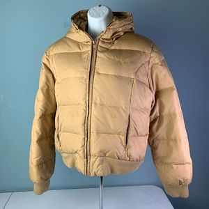 Baby Phat Puffer Down Jacket Gold Womens Large